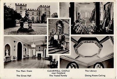 Clearwell Castle near Coleford (The Yeates Family) 1960's RPPC