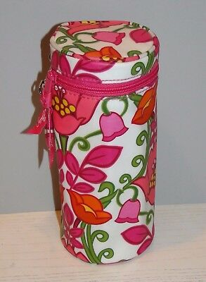 Vera Bradley Baby Bottle Caddy Lilli Bell Cooler Insulated Pink Green Floral