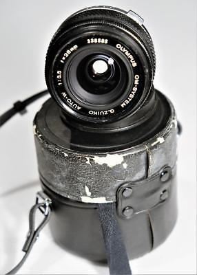 OLYMPUS  ZUIKO AUTO-W f= 28mm  1:3.5 WIDE ANGLE WITH TWO FILTERS