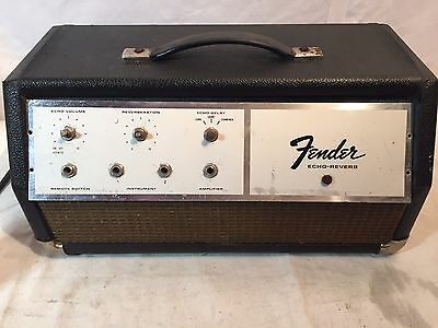vtg 1965 FENDER Echo Reverb oil can Adineko Tel Ray Delay Pre-Amp Amplifier