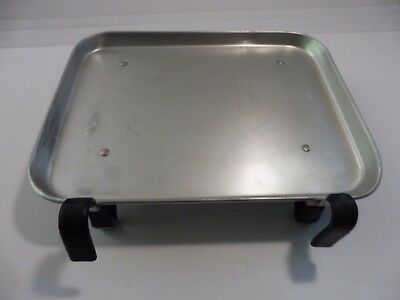Vintage Auto Tray Aluminum Car Hop Drive In Window Hook On Tray 10 1/2 X 13 1/4