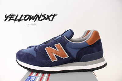 detailed look 06ec3 4214d New Balance 995 Sz 8 Made In Usa Winter Peaks Pack Navy Blue Brown M995Dcb