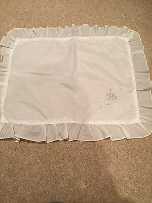 Vintage Nylon Pram Pillowcase 1960s
