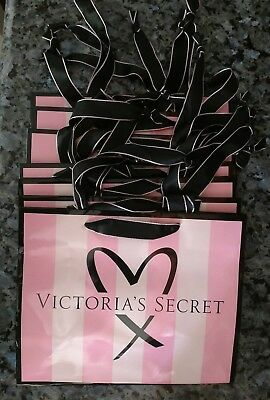 Lot of 7 small Victoria's Secret paper gift bags with Heart & Love Ltd Edition