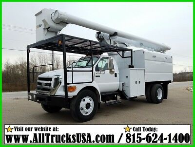2007 Ford F750 CAT C7 DIESEL 60' ALTEC FORESTRY BUCKET TRUCK Used Regular Cab