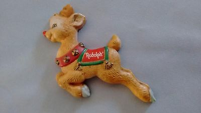 Rare! hard to find Enesco Rudolph Magnet applause adorable vintage