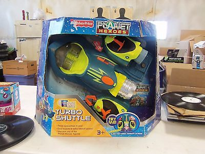 2007 Fisher Price Planet Heroes Turbo Shuttle  New In Box!!!!!