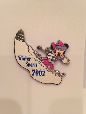 Disney Auctions Winter Sports 2002 Minnie Skiing Pin