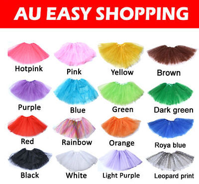 3 LAYER TUTU Dance 80'S Girl women SKIRT Costumes clothing for Party Multi-color