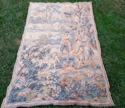 Beautiful large Antique Tapestry Hunting Dogs