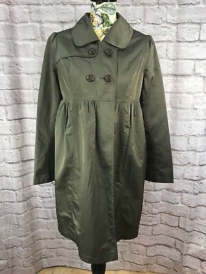 Liz Lange for Target Maternity Jacket Size XS Army Green Pea Coat Trench Coat