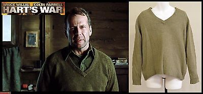 "BRUCE WILLIS (2002 Hart's War) MGM production-used ""McNamara"" POW Camp Sweater"