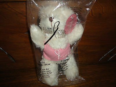 Avon Canada Cancer Flame Foundation Bear New in Bag 2004