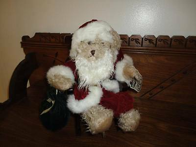 Avon Hat Box Teddies NICHOLAS Santa Claus Bear with Wooden Rocking Chair