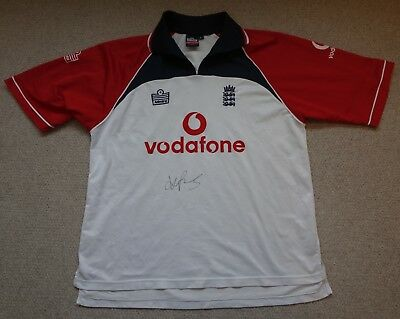 Kevin Pietersen Hand Signed England ODI Cricket Shirt with COA