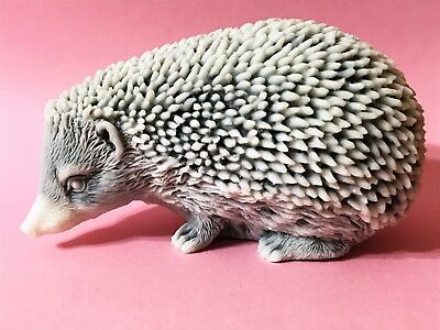 Hedgehog figurine marble chips realistic Souvenirs from Russia funny animals