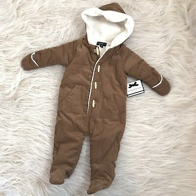 Wendy Bellissimo Baby Boy Onepiece Fleece Line Jumpsuit Hooded Snow Warm 9 Mo