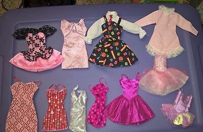 Large Lot of 20+ Dresses for Barbie Dolls - VGC, Clean, Closures all Work