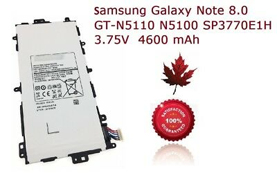 Brand New Samsung Galaxy Note 8.0 Replacement Battery GT-N5110 N5100 SP3770E1H