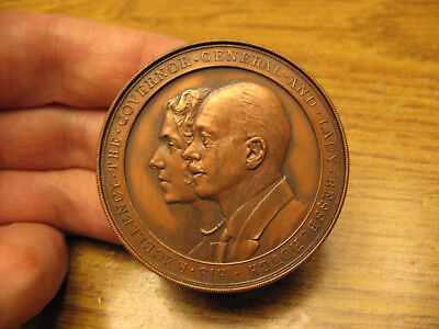 Canada Governor General Medal Earl of Bessborough Vere Ponsonby in bronze 1930s