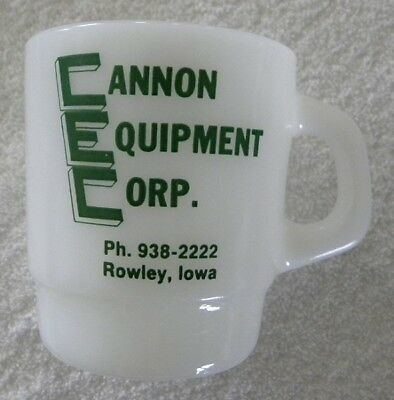 1990 Cannon John Deere Equipment, ROWLEY, Iowa IA, JD Combine Cup, Mug