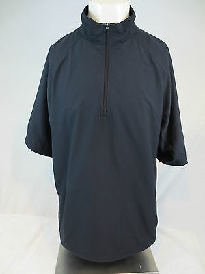 Adidas Climaproof Large Wind Golf Zip Pullover Short Sleeve L