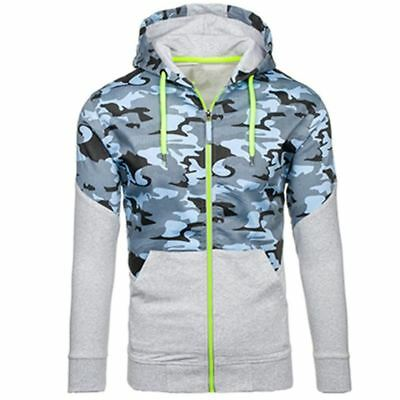 US Military Army style Camo camouflage hoodie mens sweater athletic long sleeve