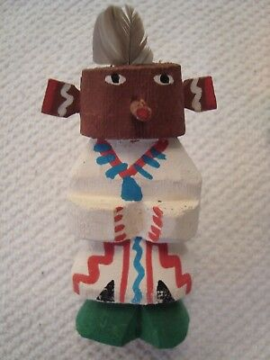 VINTAGE HOPI KACHINA DOLL - ROUTE 66 STYLE - 3.25 INCHES TALL CIRCA 1960's   #1