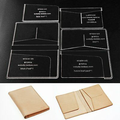 Wuta Passport Template Plastic Clear Acrylic Leather Pattern Craft Tools 834