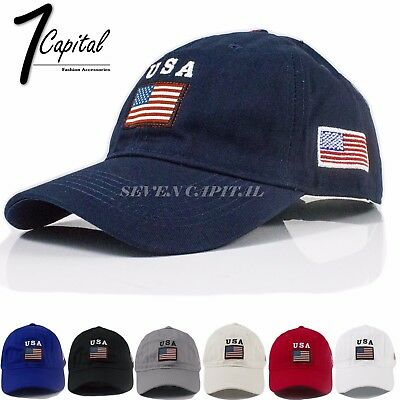 USA America Flag Military Tactical Polo Style Cotton Adjustable Baseball Cap Hat