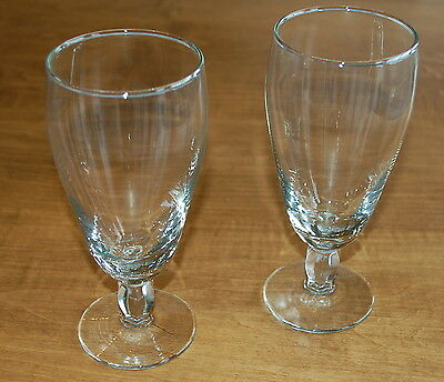 Elegant Pedestal Base Pair Of Beer Glasses - In Untouched Condition!