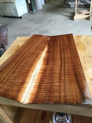 Master Fiddleback Blackwood Guitar Back And Sides Set . #1045
