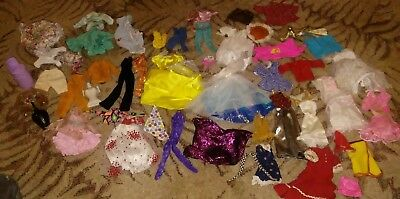 Barbie Huge Lot of 48 pieces Doll Clothes & Accessories  HTF vintage table lamp