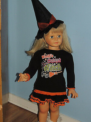Too Cute Halloween Witch Outfit For  Patti Play Pal & Similar Dolls