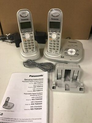 panasonic kx tg6321s dect 6 0 cordless base w 1 handset manual rh picclick com Panasonic Owner's Manual panasonic kx-tg5621 manual en español