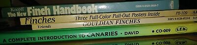 Lot of 4 Books about Finches, Gouldian Finches and Canaries S7