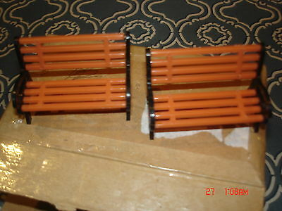 *bargain* 2 X Wrought Iron/timber Bench Seats - O Scale