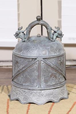 "Antique Chinese Qing Dynasty ""Trumpet"" Style Bronze Bell."