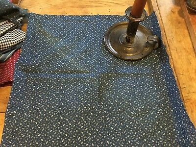 Moprimitivepast Antique Indigo Blue Quilt Fabric  Hard To Find Large Piece