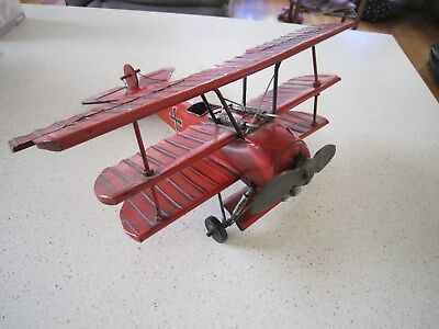 Large Vintage Style RED BARON Classic Collection Model Aircraft Plane