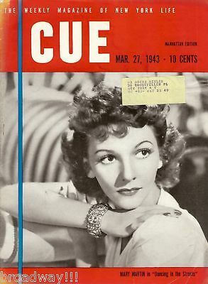 """Mary Martin """"DANCING IN THE STREETS"""" New York's """"CUE"""" Magazine 1943 FLOP Musical"""