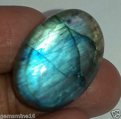 18.45 CT LABRADORITE GIE Certified 100%NATURAL SUPERB Quality Marvelous Gemstone
