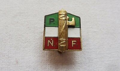 Italian Fascist Party Badge Pnf Distintivo Partito Fascista Mussolini Milizia
