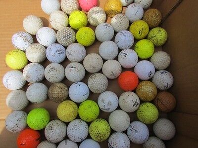 Job Lot Of 64 Used Vintage Golf Balls