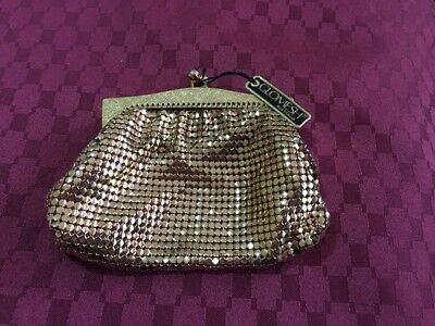 Authentic Vintage Retro Glomesh Purse Rose Gold New Unused With Tag