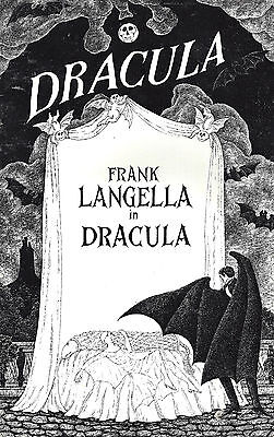 "Frank Langella (Cast Signed) ""DRACULA"" Edward Gorey 1977 Souvenir Program"
