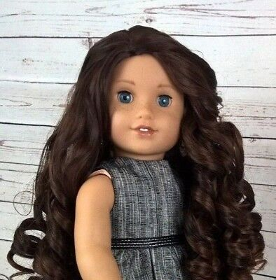 10-11 Custom Doll Wig fit Blythe-American Girl-1/4 Size TWISTED ROOT BEER bn1