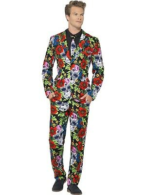 Day Of The Dead Stand Out Suit Halloween Costume Mens Stag Party Funny Formal