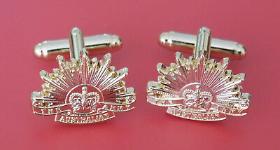 Australian Army Rising Sun Gold Plated Cufflinks Pair General Service Badge