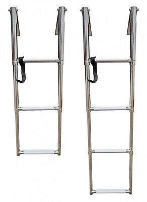Pull-Out Telescope Bath Ladder for Platform Bathing Platform with Hand Grip NEW